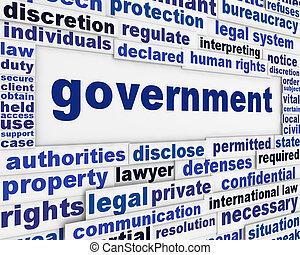 плакат, концепция, правительство