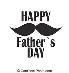 плакат, отец, иллюстрация, вектор, день, карта, счастливый