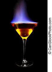 пламенный, коктейль