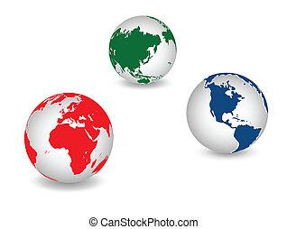 планета, глобальный, земля, мир
