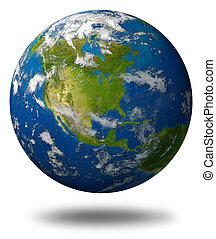 планета, земля, америка, featuring, север