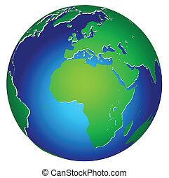 планета, земля, глобальный, значок, мир
