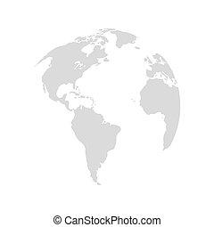 планета, земля, дизайн, карта