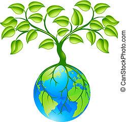 планета, земной шар, земля, дерево