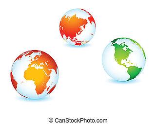планета, мир, глобальный, земля