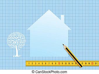 план, дом, дизайн