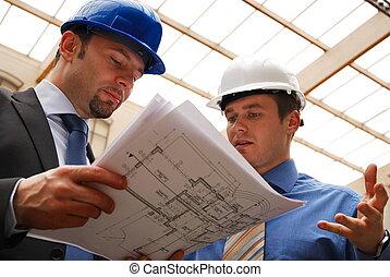 план, рассмотрение, architects