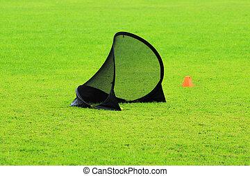пластик, обучение, kids, футбол, газон, виды спорта, зеленый, стадион, limiter, маленький, ворота, трава