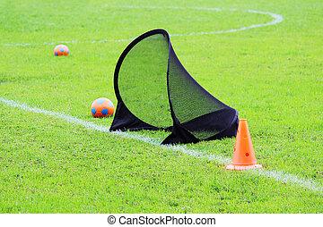 пластик, обучение, kids, футбол, футбол, газон, виды спорта, мячи, зеленый, стадион, limiter, маленький, ворота, трава