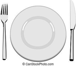 пластина, ужин