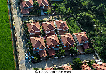 площадь, roofs, корпус, посмотреть, воздух