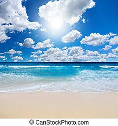 пляж, пейзаж, безумно красивая