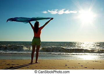 пляж, расслабиться