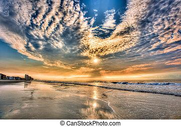 пляж, daytona, sunrise!!