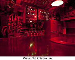 подводная лодка, команда, центр