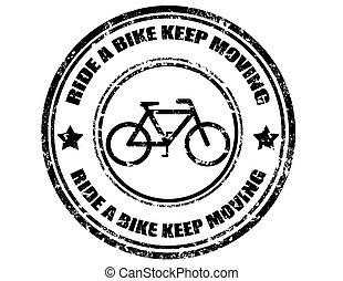 поездка, перемещение, велосипед, держать