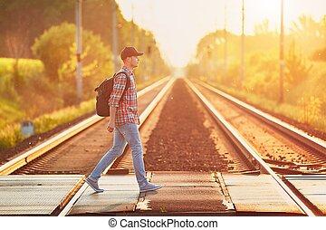 поезд, путешествие, природа