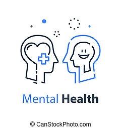 познавательный, profile, или, концепция, психология, умственный, здоровье, человек, психотерапия, глава