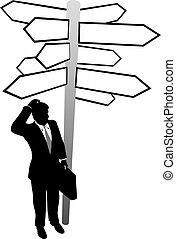 поиск, бизнес, решение, solution, знаки, направления, человек
