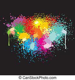 покрасить, splashes