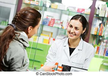покупка, медицинская, лекарственный, аптека