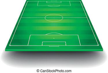 поле, футбольный, перспективный