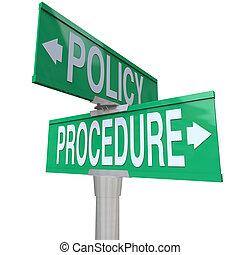 политика, дорога, улица, путь, знаки, процедура, два, пересечение, компания