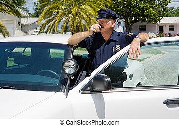 полицейский, главное управление, radioing
