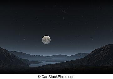 полный, луна