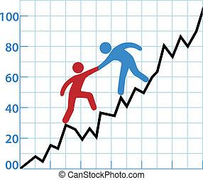 помогите, бизнес, рентабельность, диаграмма, человек, чернила, красный