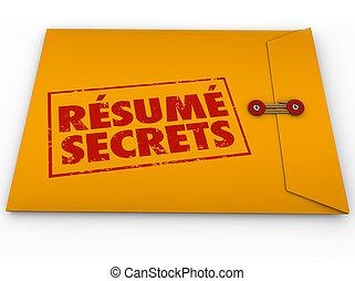 помогите, продолжить, secrets, руководство, конверт, желтый, работа, интервью, tips, совет
