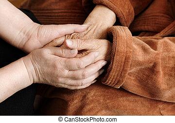 помощь, взрослый, старшая
