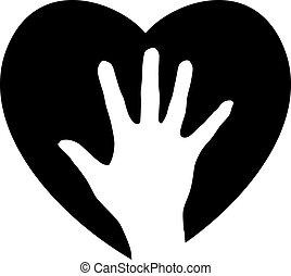 помощь, сердце, рука