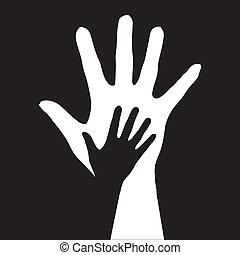 помощь, hands.