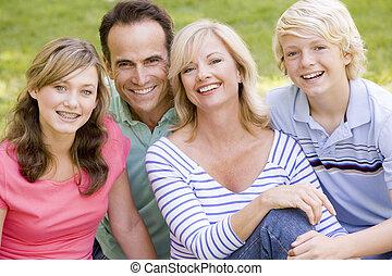 портрет, семья