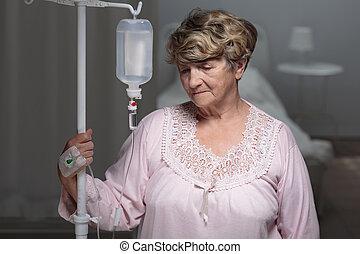 портрет, старшая, пациент