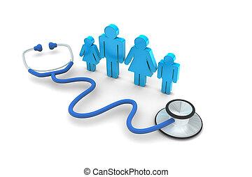 посещение, семья, врач