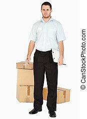 после, буфер обмена, наемный рабочий, parcels, молодой
