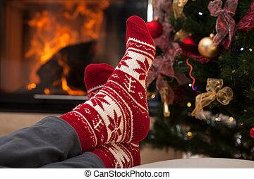 после, рождество, расслабиться