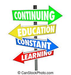 постоянная, continuing, улица, learning, знаки, образование
