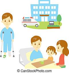 пострадавший, больница, человек