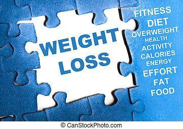 потеря, головоломка, вес