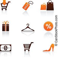 поход по магазинам, коллекция, icons