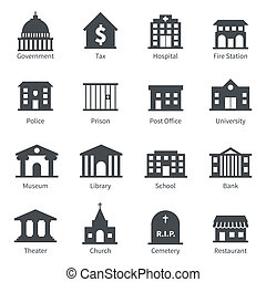 правительство, buildings, icons