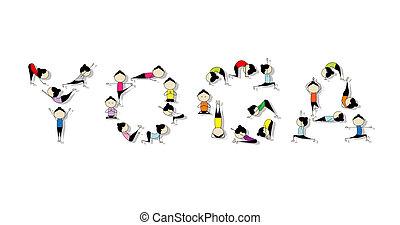 практика, дизайн, концепция, йога, ваш