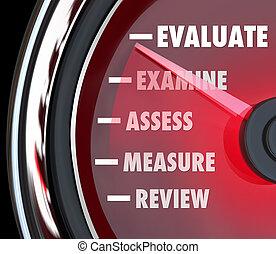 представление, обзор, оценка, измерительный прибор, спидометр
