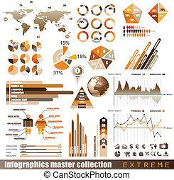 премия, histograms, elements., icons, земной шар, диаграммы, диаграмма, дизайн, arrows, много, infographics, мастер, collection:, связанный, 3d