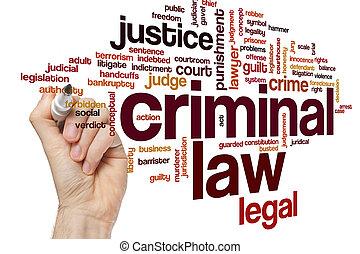 преступник, слово, облако, закон