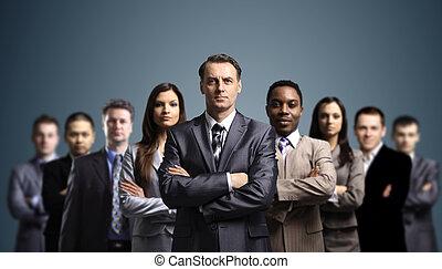 привлекательный, молодой, бизнес, люди