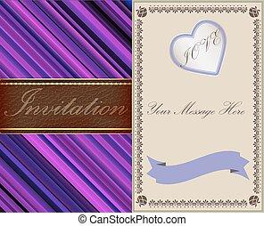 приглашение, leather., золото, old-style, cards